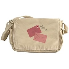 Sent With Love Messenger Bag