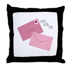 Sent With Love Throw Pillow