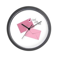 Sent With Love Wall Clock