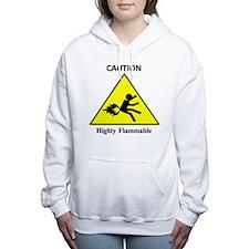 Cute Flammable Women's Hooded Sweatshirt