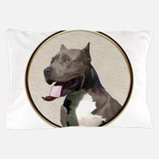 Black White Pit Bull Pillow Case