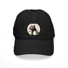 Black White Pit Bull Baseball Hat