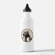 Black White Pit Bull Water Bottle