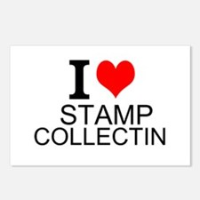 I Love Stamp Collecting Postcards (Package of 8)