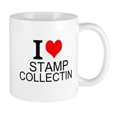 I Love Stamp Collecting Mugs