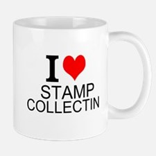 I Love Stamp Collecting Mugs