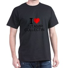 I Love Stamp Collecting T-Shirt