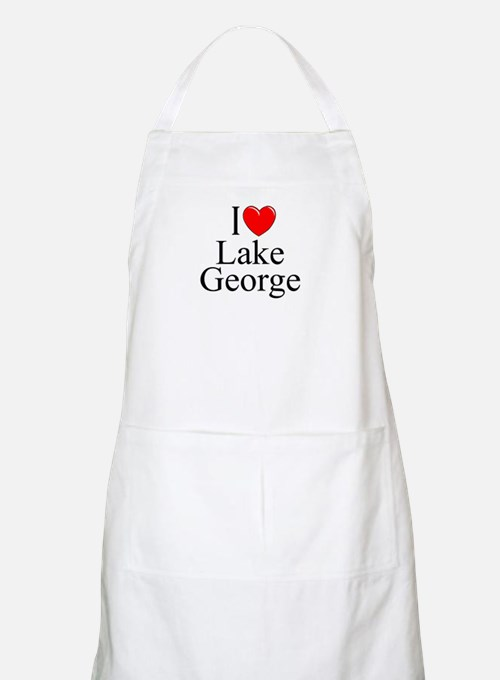 """I Love Lake George"" BBQ Apron"