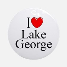 """I Love Lake George"" Ornament (Round)"