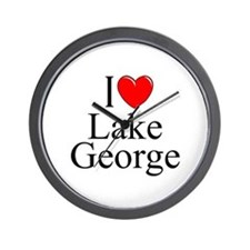"""I Love Lake George"" Wall Clock"