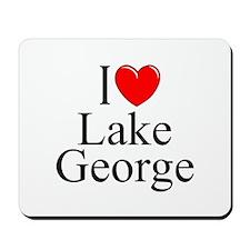 """I Love Lake George"" Mousepad"