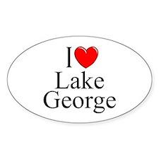 """""""I Love Lake George"""" Oval Decal"""