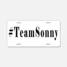 Hashtag TeamSonny Black Letters Aluminum License P