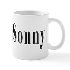 Hashtag TeamSonny Black Letters Mugs