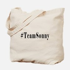 Hashtag TeamSonny Black Letters Tote Bag
