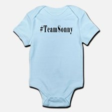 Hashtag TeamSonny Black Letters Body Suit