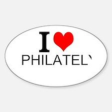 I Love Philately Decal