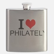 I Love Philately Flask
