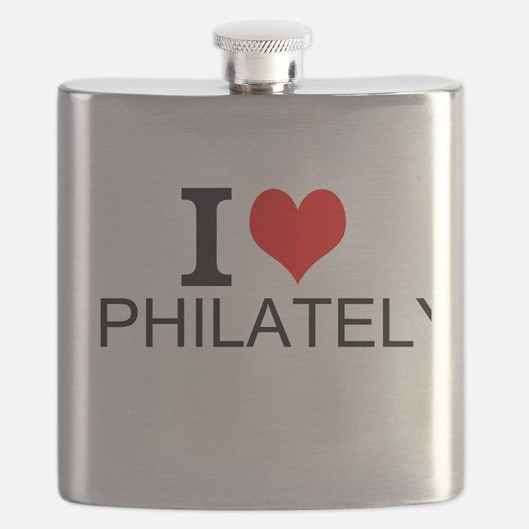 I Love Philately Flask