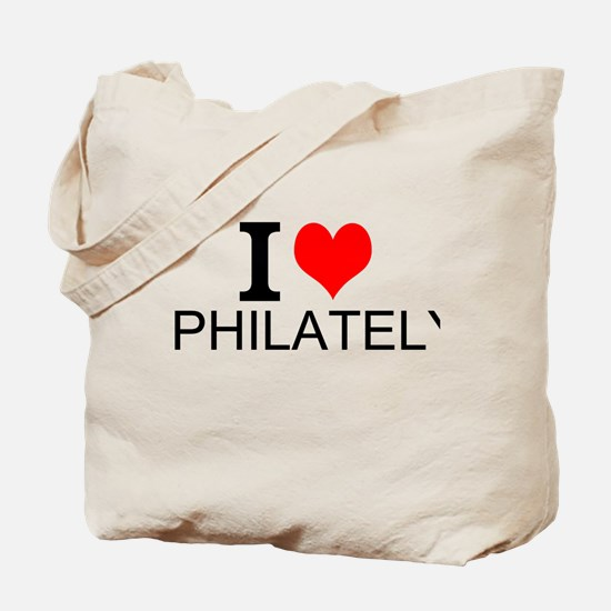 I Love Philately Tote Bag