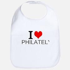 I Love Philately Bib