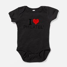 I Love Philately Baby Bodysuit
