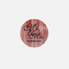 Burgundy Custom Family Name Mini Button (10 pack)