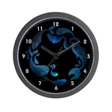 Aquatic Galaxy Wall Clock