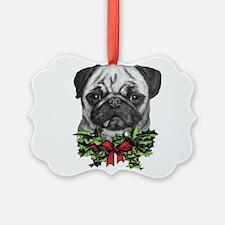 Pugalicious Christmas Ornament
