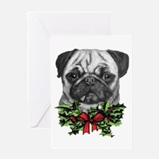 Pugalicious Christmas Greeting Cards