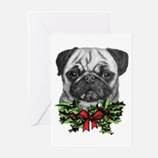 Pugalicious Christmas Greeting Cards