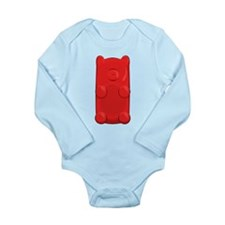 Candy Bear Long Sleeve Infant Body Suit