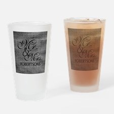Black and White Mr. and Mrs.Persona Drinking Glass