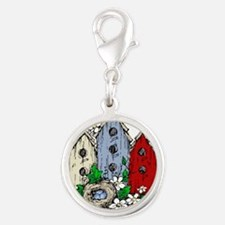 Three Birdhouses and a Nest copy Charms