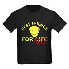 Kids Dark T-Best Friends For Now