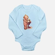 Kewpie Ice Cream copy.png Long Sleeve Infant Bodys