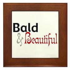 Bald & Beautiful Framed Tile