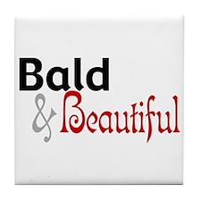Bald & Beautiful Tile Coaster