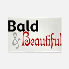 Bald & Beautiful Rectangle Magnet