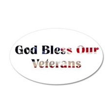 God Bless Our Veterans Wall Decal