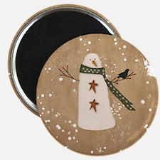 Primitive Snowman Magnets