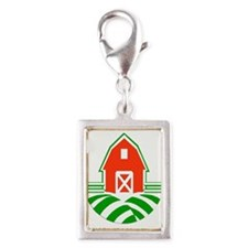 Red Barn and Green Fields Logo Charms