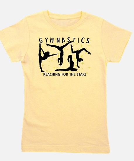 Gymnastics Reaching For The Stars Girl's Tee
