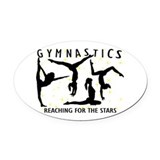 Gymnast Oval Car Magnets