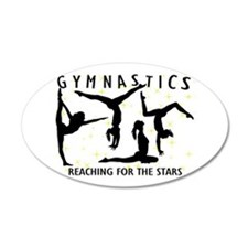 Gymnastics Reaching For The Wall Decal