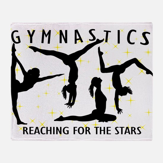 Gymnastics Reaching For The Stars Throw Blanket