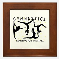 Gymnastics Reaching For The Stars Framed Tile
