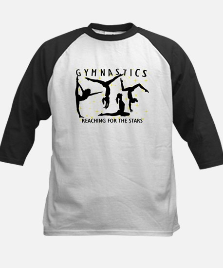 Gymnastics Reaching For The S Kids Baseball Jersey