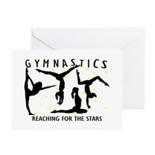 Gymnastics Reaching For Greeting Cards (Pk of 10)