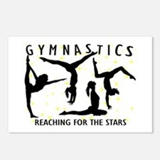 Gymnastics Reaching For T Postcards (Package of 8)